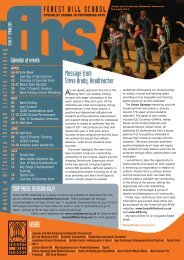 FHS Issue 17:Layout 1 - Forest Hill School