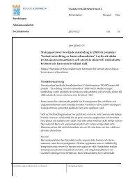 Slutraport projekt Fortsatt utveckling av ... - Luleå kommun