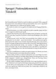 samlet årgang - Økonomisk Institut - Københavns Universitet
