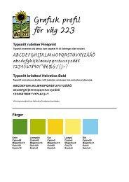 Grafisk profil för väg 223 - Krokstugans LANTLIV & trädgård