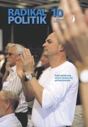 RADIKAL POLITIK 10-2006.indd - Radikale Venstre