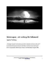 Kärnvapen - ett verktyg för folkmord