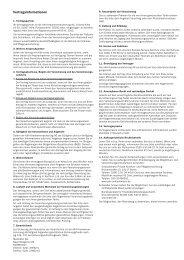 Vertragsinformationen - Zahnzusatzversicherung Vergleich