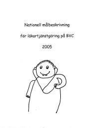 Nationell målbeskrivning för läkartjänstgöring på ... - Webbhotell SLL