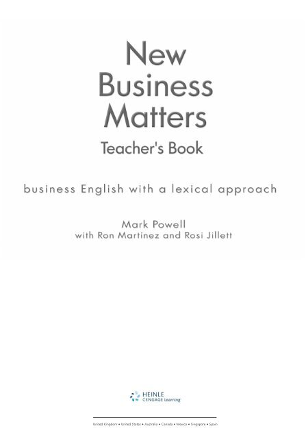 New Business Matters Teacher Resource Book - Heinle