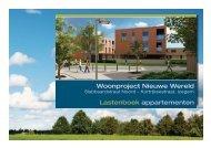 Woonproject Nieuwe Wereld Lastenboek appartementen