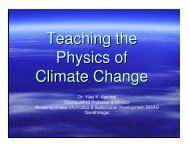 Teaching the Physics of Climate Change - ICCSIR