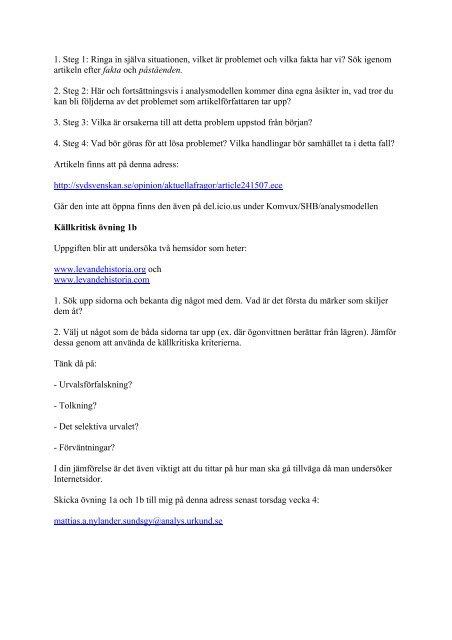 Kompendie sh b vt 10 - Historia och Samhällskunskap