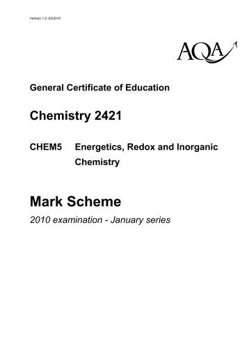 a level chemistry coursework mark scheme Books can be a great way of aiding your learning the books shown below are recommended by teachers and students click on the books to find out more topic 18 assessed homework (mark scheme) topic 18 test (mark scheme) topic 18 exercise 1 - aromatic chemistry ​answers to topic 18 exercises click here to.