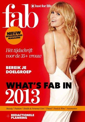 Redactionele Planning 2013 - Fab Magazine
