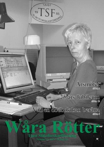 Årsmötet Vad en dödbok kan berätta 25 års Jubileum - Tjust ...