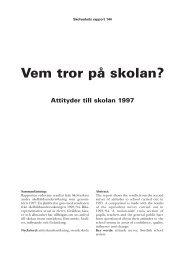 Attityder till skolan 1997 - Skolverket