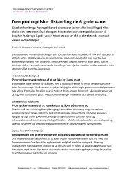 Den protreptiske tilstand og de 6 gode vaner - Copenhagen ...