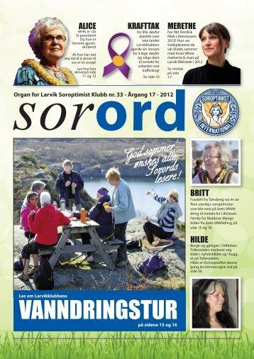 Sorord Nr 33 Juni 2012 - Op
