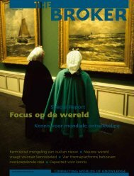 Focus op de wereld - The Broker