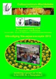 Cultuurcentrum-Wachtebeke Uitnodiging Nieuwjaarsreceptie 2013