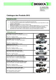 BEGECA Product Catalogue 2012