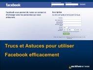 Trucs et Astuces pour utiliser Facebook efficacement - Active Network