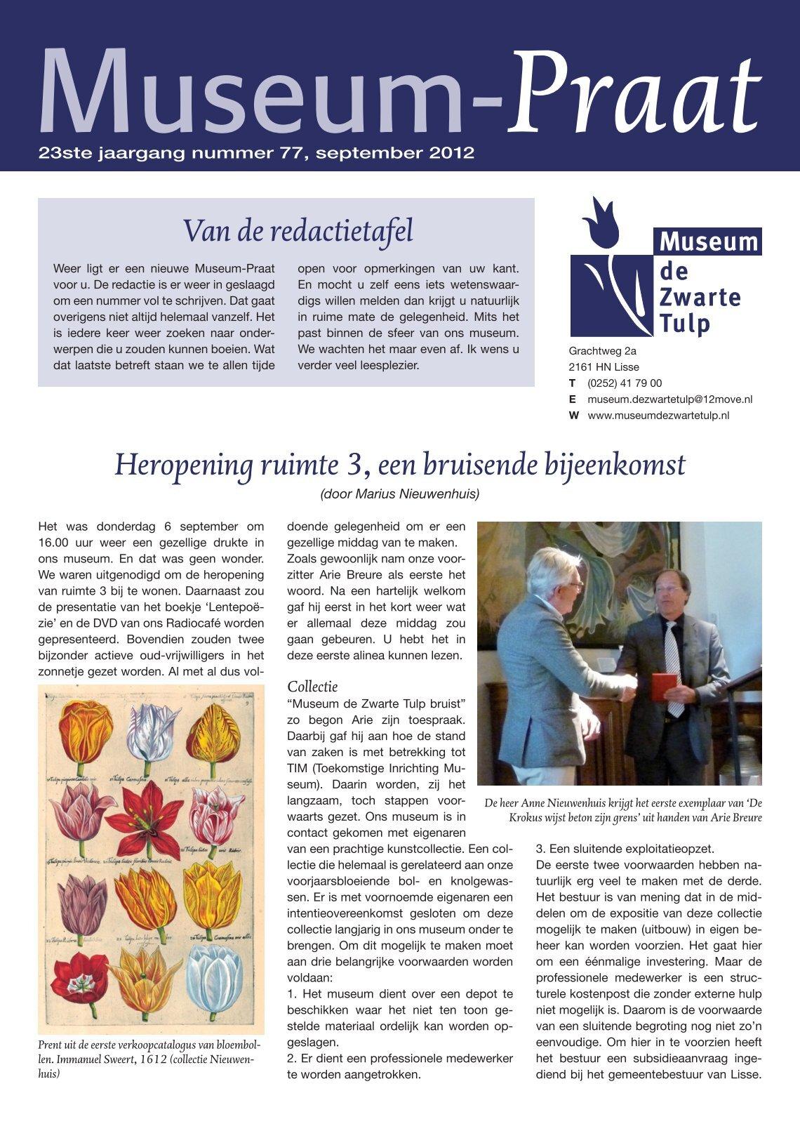 3 Free Magazines From Museumdezwartetulpnl