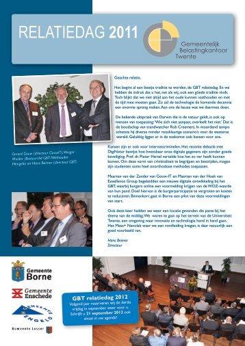 Nieuwsbrief oktober 2011 - Gemeentelijk Belastingkantoor Twente