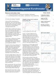 Læs maj-udgaven af medlemsbladet EuroInvestor