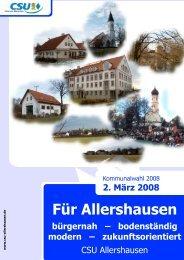 Für Allershausen - CSU