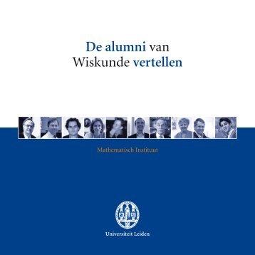 De alumni van Wiskunde vertellen