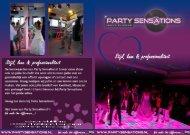 bruidsbrochure 2013 - Party Sensations