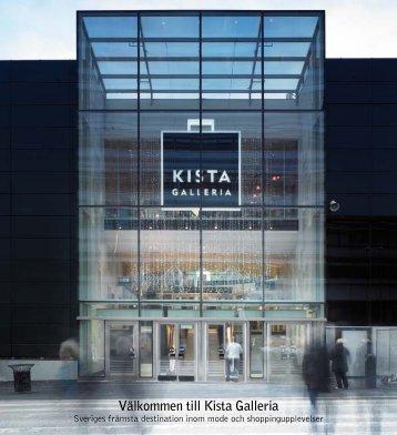 Broschyr om Kista Galleria