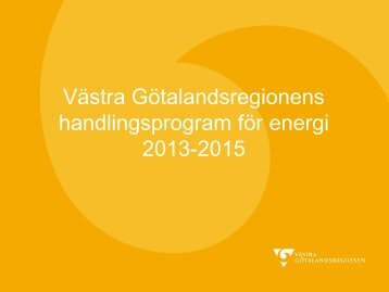 Handlingsprogram energi 2013-2015