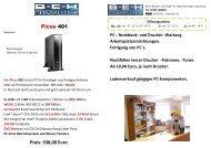 Picus 401 Preis: 338 00 Euro - Beh-Computer
