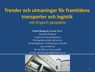 Trender och utmaningar för framtidens transporter och logistik