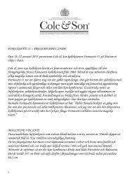 ` FORNASETTI II – PRESSMEDDELANDE Den 18–22 januari 2013 ...