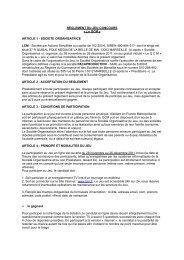 RÈGLEMENT DU JEU-CONCOURS « Le QCM » ARTICLE 1 ... - LCM