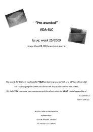 Catalogue pre-owned VDA-SLC - week 25/2009. - Die Behälterbörse