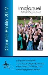 Brochure 1 - Langley Immanuel Christian Reformed Church
