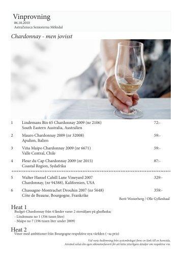 Dessa viner testade vi - AstraZeneca Seniorerna Mölndal