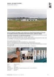 SKOLE- OG INSTITUTION HADSUND SKOLE - JJW arkitekter