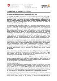 Communiqué de presse en format pdf - m (www.swissgranum.ch