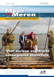 Meer dan Meren nummer 27, zomer 2013 - Friese Meren