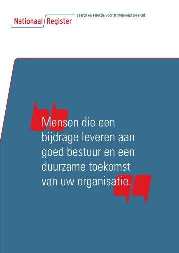 corporate brochure - Nationaal Register