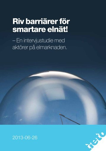 Riv barriärer för smartare elnät! - Tieto
