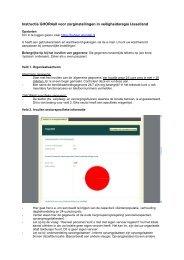 Instructie GHOR4all: Hoe vul ik het in - Veiligheidsregio IJsselland