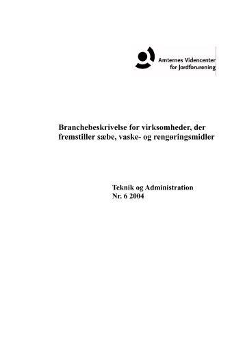 Branchebeskrivelse for virksomheder - Videncenter for Jordforurening