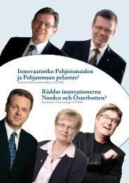 Innovaatiotko Pohjoismaiden ja Pohjanmaan pelastus? Räddar ...