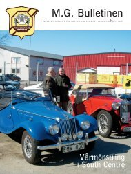 M.G. Bulletinen - The MG Car Club