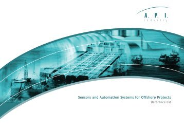 Sensors and Automation Systems for Offshore Projects - API Industry