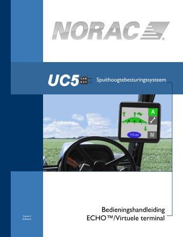 Bedieningshandleiding ECHO™/Virtuele terminal - Norac