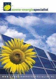Brochure downloaden - De Zonne-energiespecialist