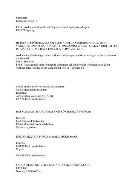 Klassifikation av sjukdomar och hälsoproblem 1997 - Det ...